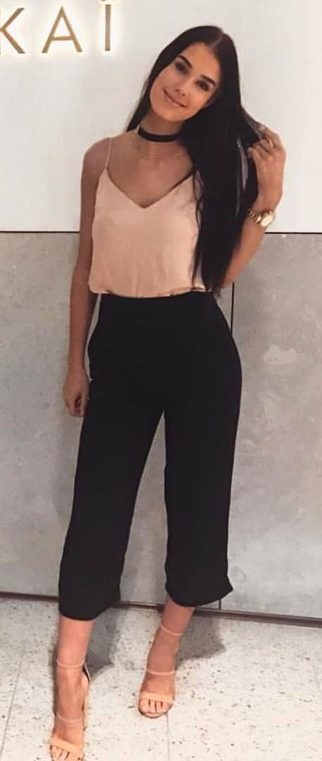 23f832cf566  summer  outfits The Oyster Pants In Black Are A Must ✓