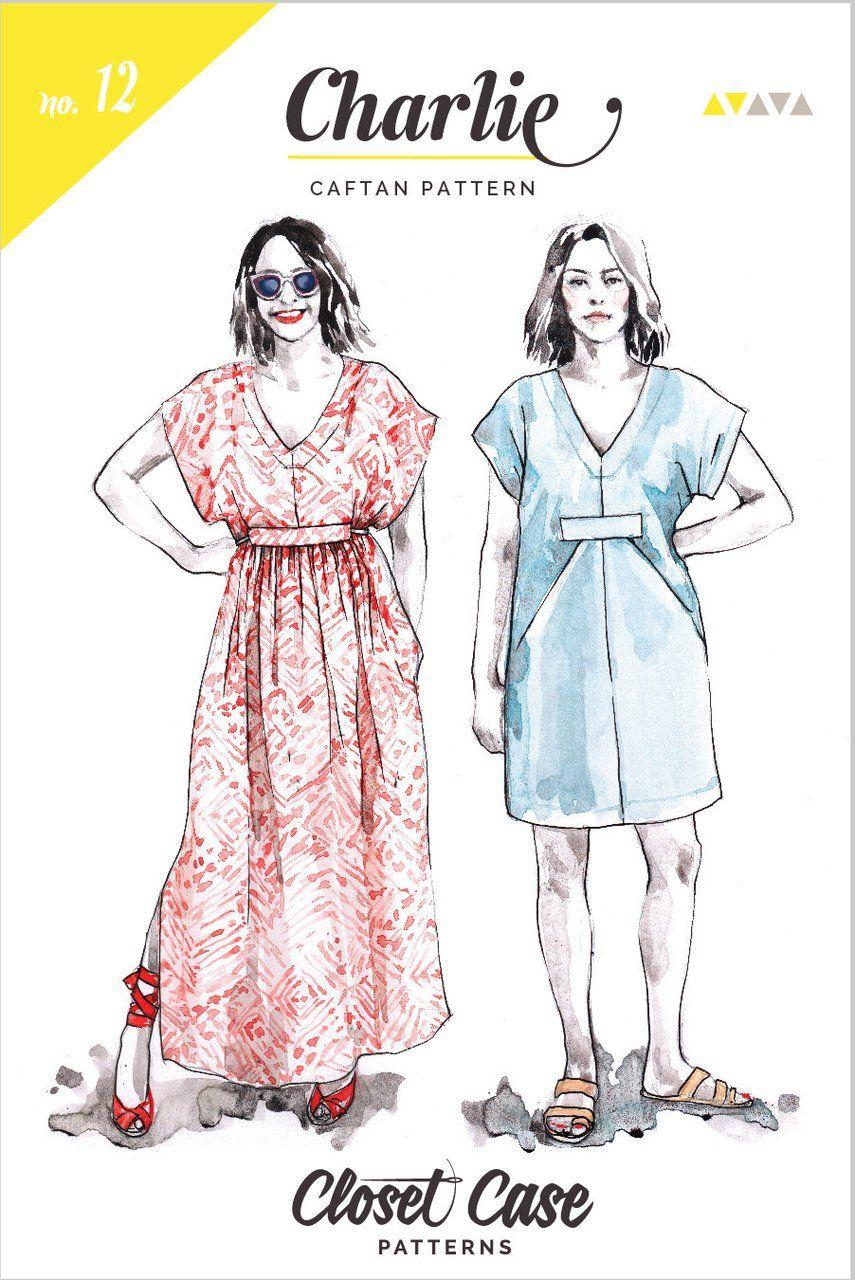 Closet Case Patterns Charlie Caftan | Caftans, Dress sewing patterns ...