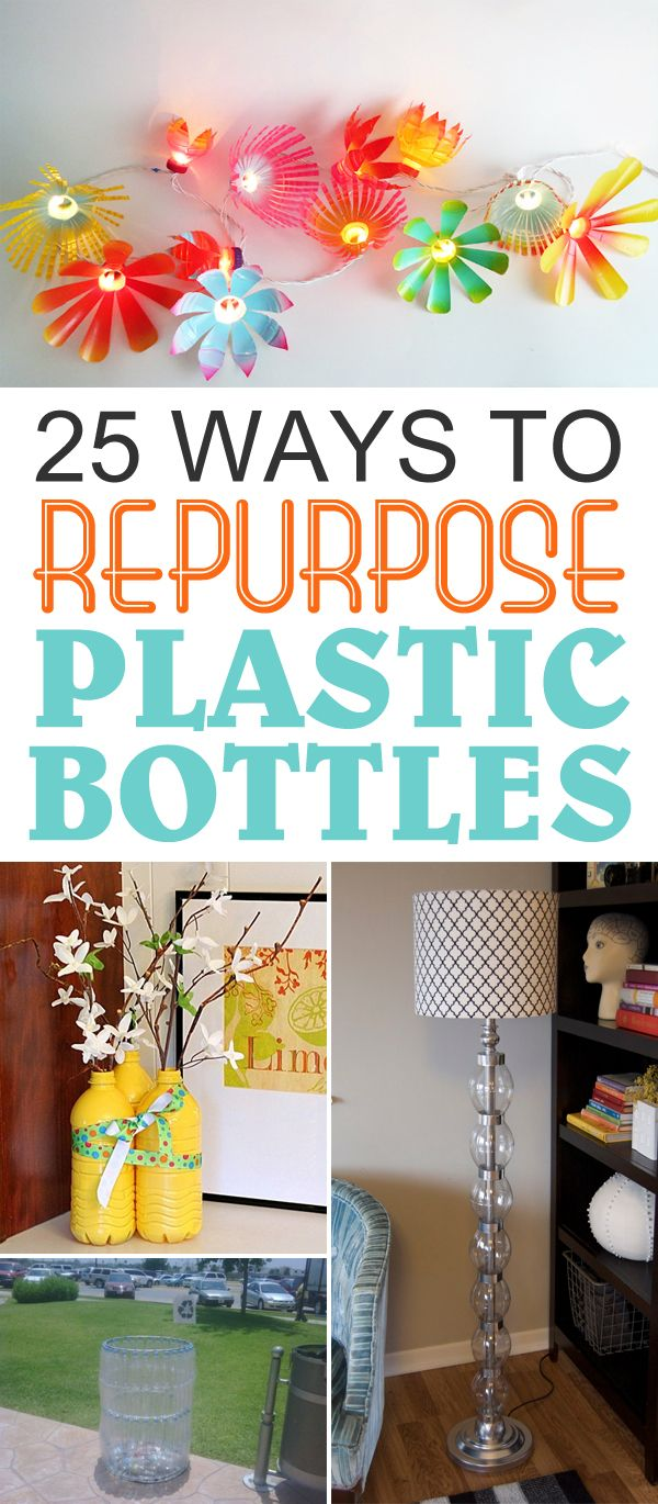 25 Ways To Repurpose Plastic Bottles Into Cute Home And