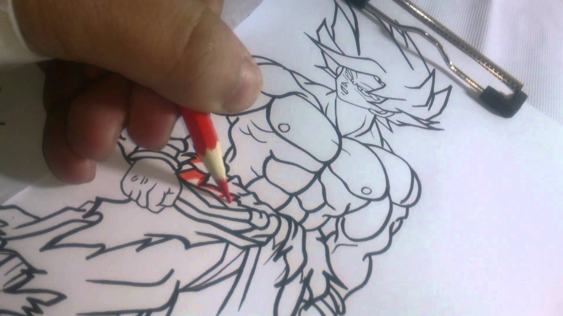 Line Art Photo Tutorial : Goku ssj 1 drawing tutorial how to pinterest drawings