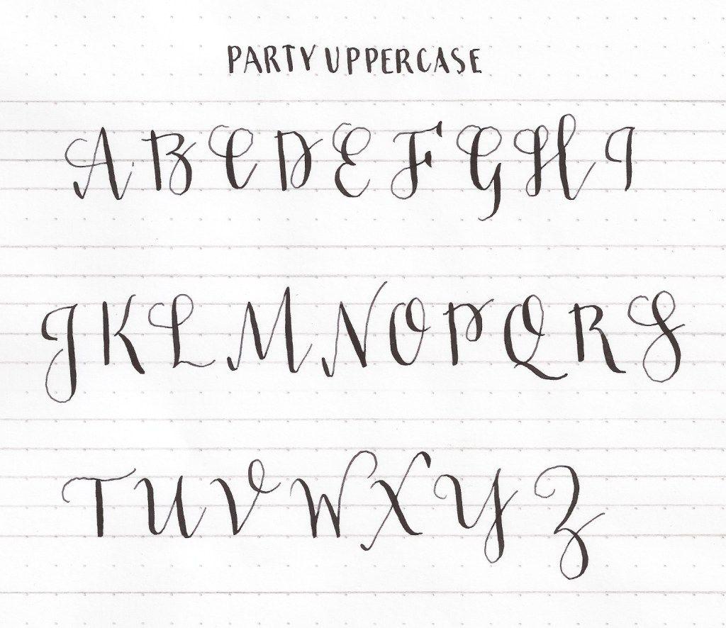 Learn uppercase capital letters | Modern Calligraphy Basics ...