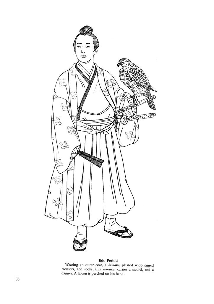 Japanese clothing colouring pages. | Relaxation Art | Pinterest ...