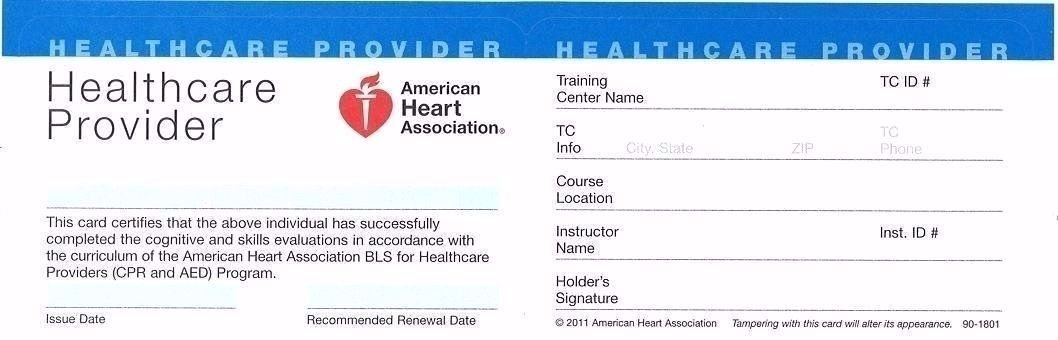 American Heart Association Healthcare Provider Cpr Card Template 11 Top Risks Of Attending American He Cpr Card American Heart Association Healthcare Provider