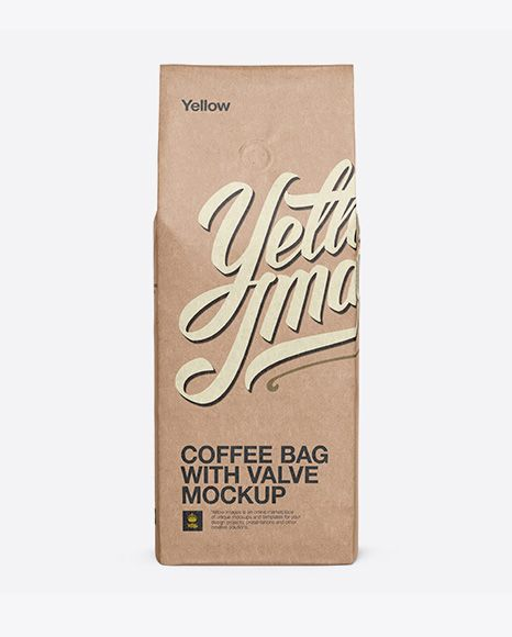 Download Kraft Coffee Bag With Valve Mockup Front View In Bag Sack Mockups On Yellow Images Object Mockups In 2020 Mockup Free Psd Mockup Mockup Psd