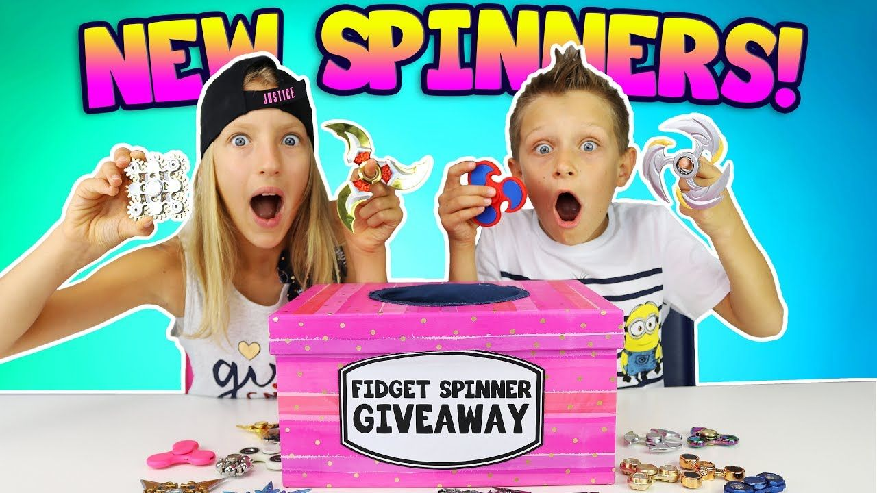 sis vs bro are having a fidget spinner give away go to