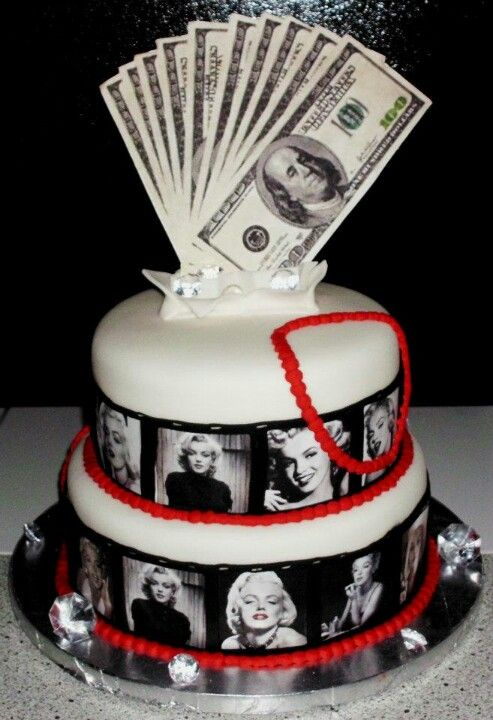 Marilyn Monroe Cake W Diamonds 21st Birthday Cakes