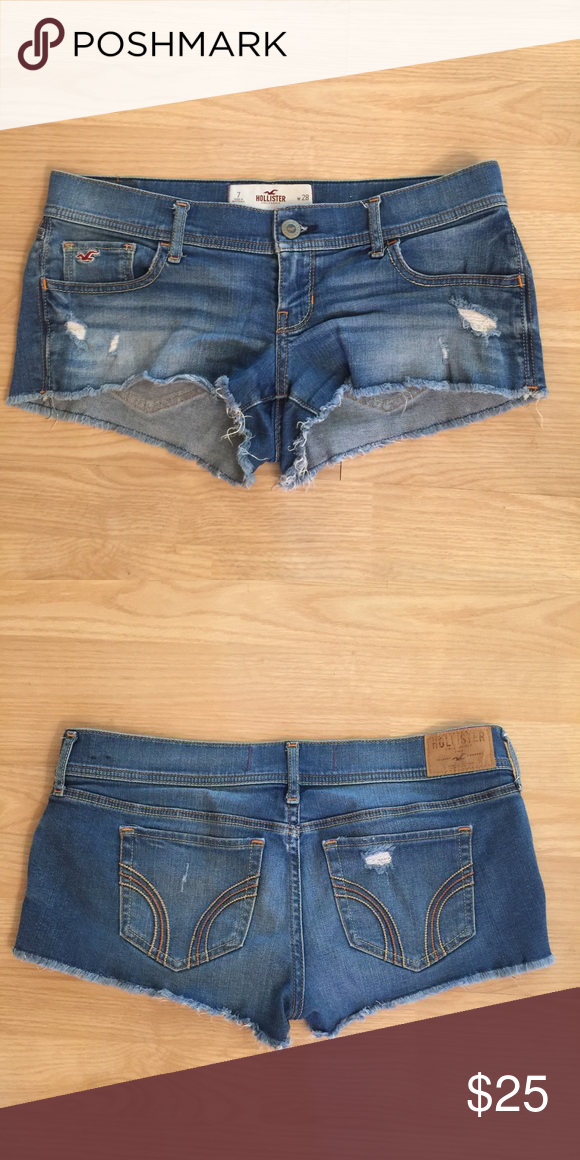 Hollister denim shorts Short denim shorts in good condition Hollister Shorts Jean Shorts