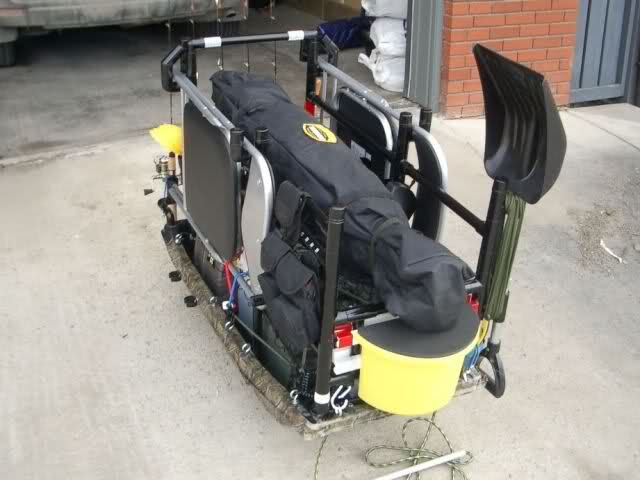 Let 39 s see your ice fishing sleds fishing pinterest for Ice fishing sled ideas