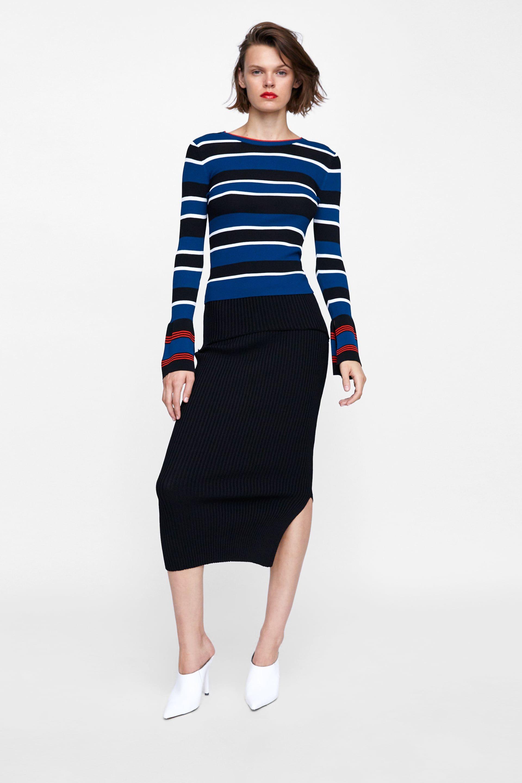 68792428f FALDA TUBO CANALÉ | zara | Tube skirt, Zara women, Skirts