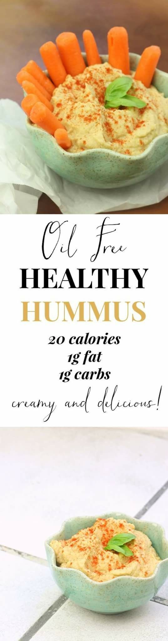 The perfect homemade hummus. Oil free and completely addicting! Good thing its so low in