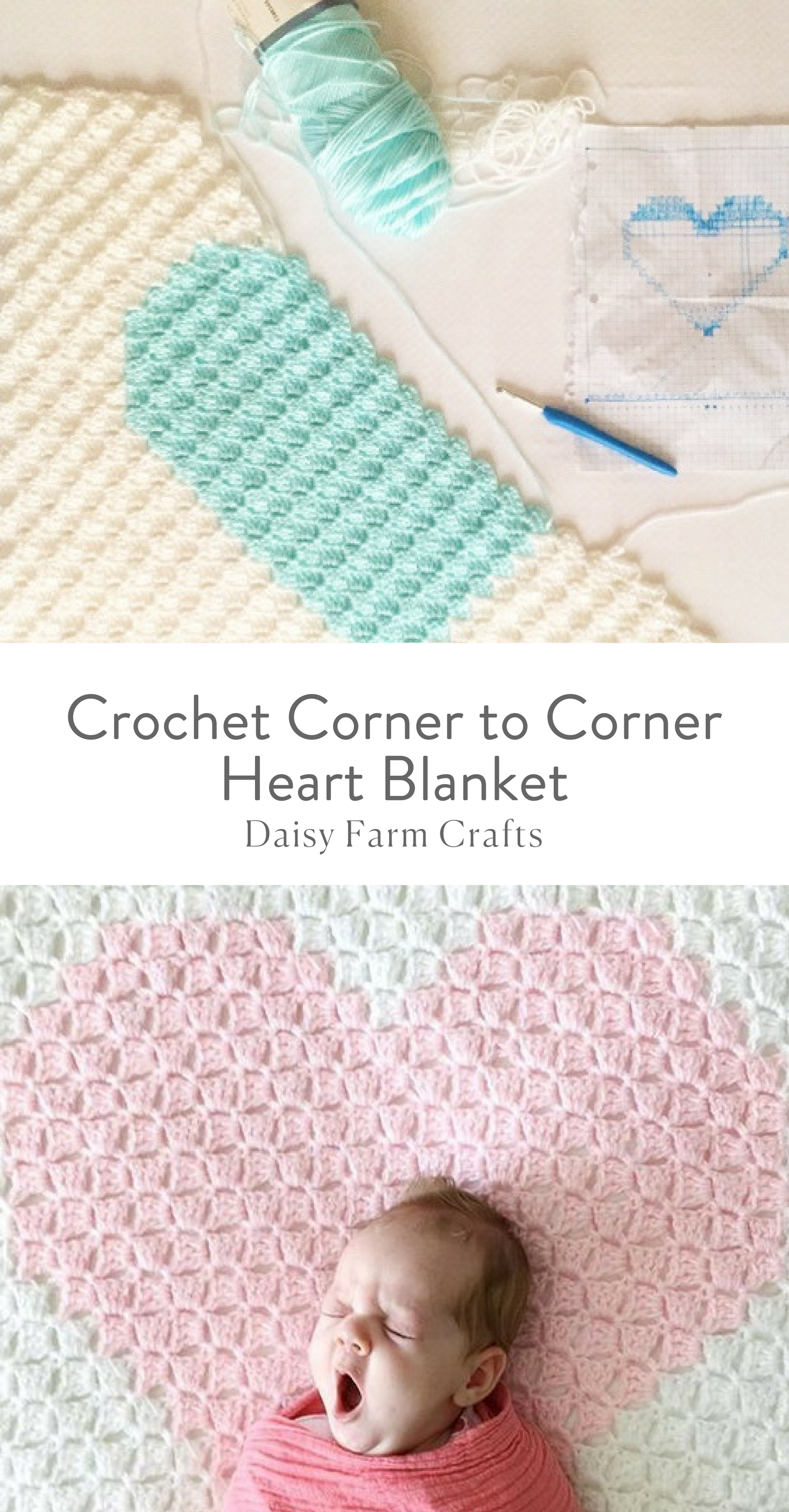 Free Pattern - Crochet Corner to Corner Heart Blanket | Yarn ...