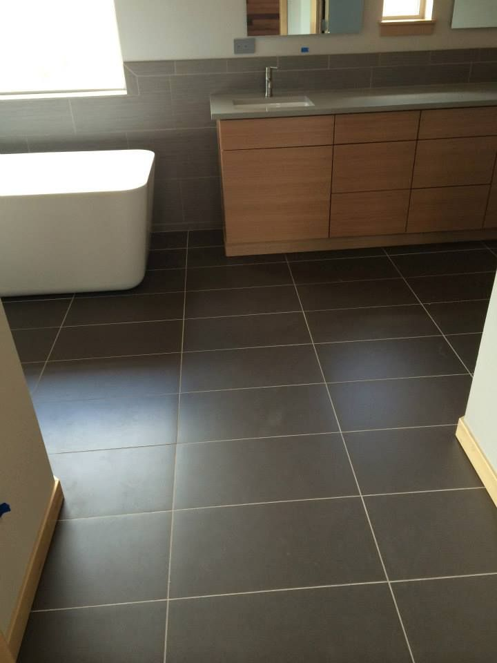 Matte Finish Floor Tile We Sold And Installed In Bathroom