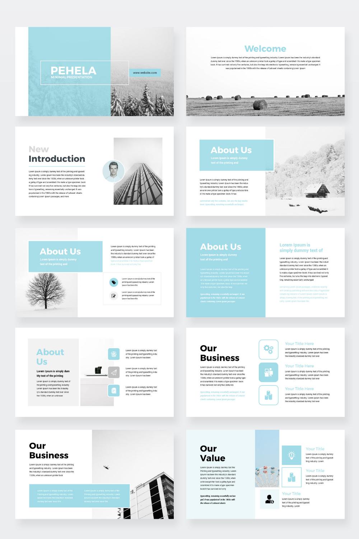 Clean Minimal Business Google Slides Presentation Template Etsy Powerpoint Presentation Design Presentation Design Layout Presentation Slides Templates