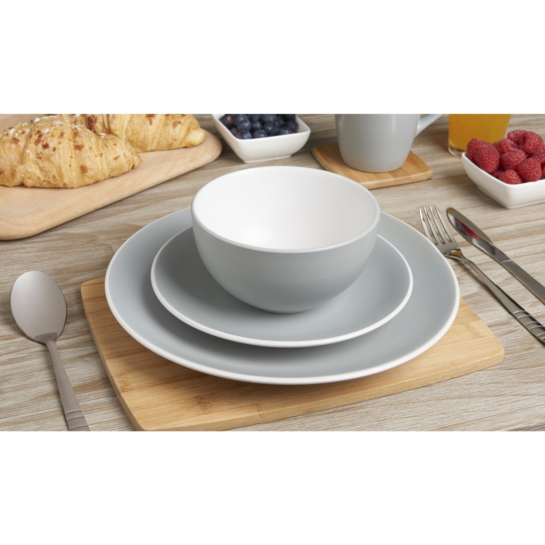 12 Piece Moda Aqua Stoneware Dinner Set £22.99  sc 1 st  Pinterest & 12 Piece Moda Aqua Stoneware Dinner Set £22.99 | APFL Home Decor ...