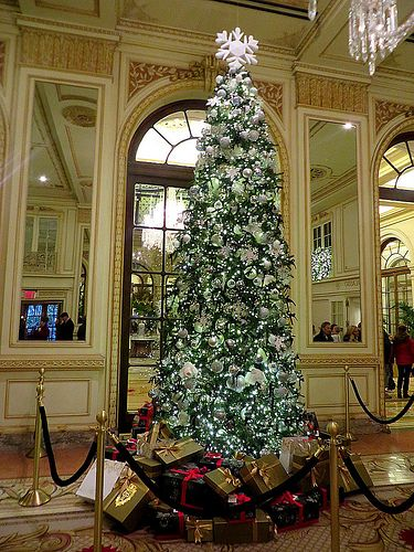 Christmas Tree At The Plaza Hotel 768 Fifth Avenue New York City New York Christmas Nyc Christmas Plaza Hotel