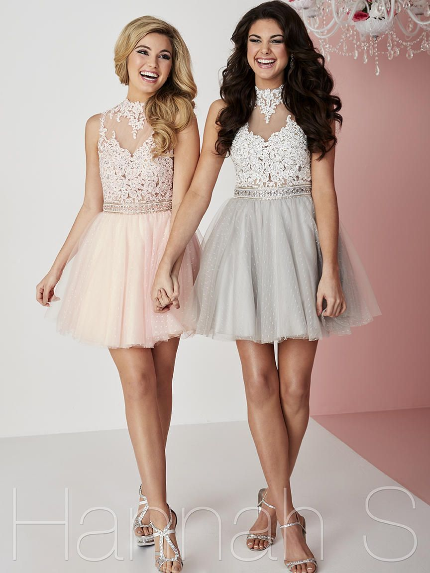 Short Platinum Party Dresses