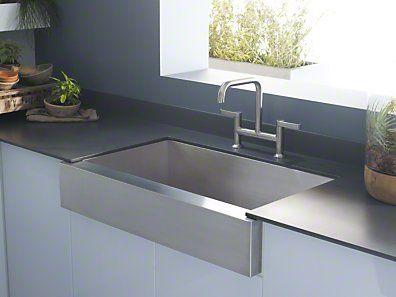 Kohler Vault Apron Front Undermount Sink With Images Kitchen