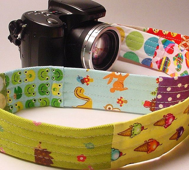 kawaii patchwork camera strap 005 by kungfucowgirl, via Flickr