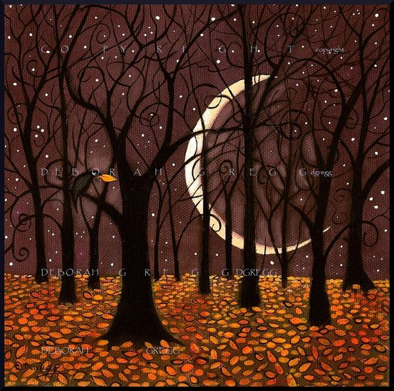 The Last Leaf a Autumn Leaves Crow Print by Deborah Gregg Youll remember their bright life, glowing glowing in the spaces so empty now where