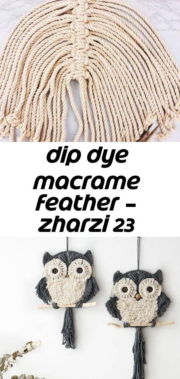 Dip dye macrame feather – zharzi 23 #curtainfringe