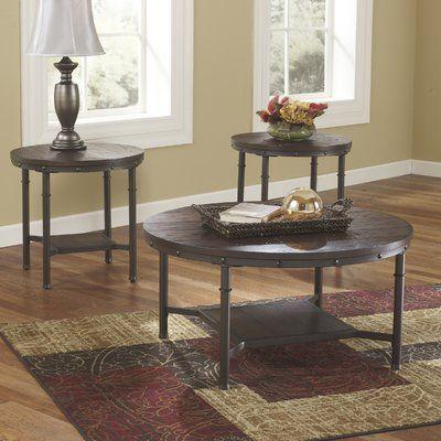 Loon Peak Croley 3 Piece Coffee Table Set 3 Piece Coffee Table