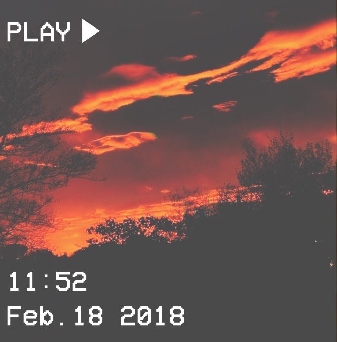 M O O N V E I N S 1 0 1 Vhs Aesthetic Sky Red Orange Trees Clouds Fire Orange Aesthetic Sky Aesthetic Aesthetic Wallpapers