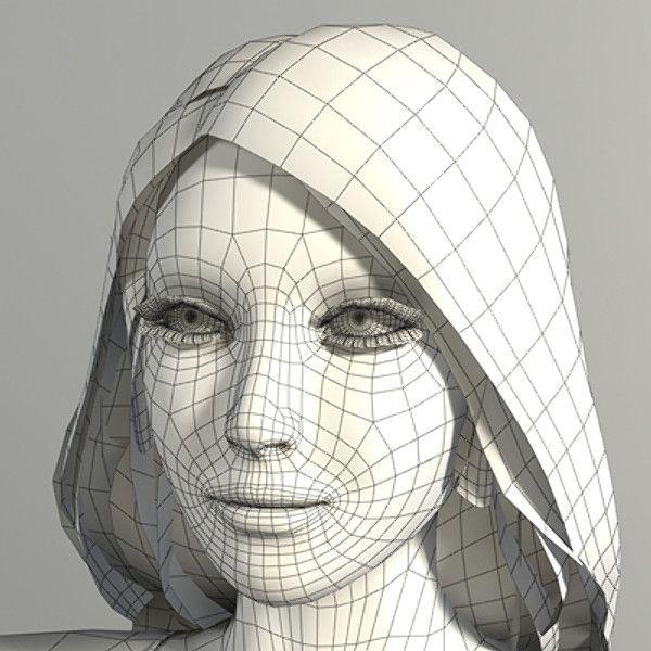 realistic woman 3d model Model, 3d model, Topology