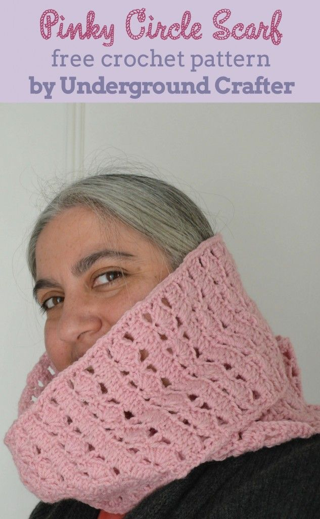 Crochet Pattern Pinky Circle Scarf Crochet Wearables And