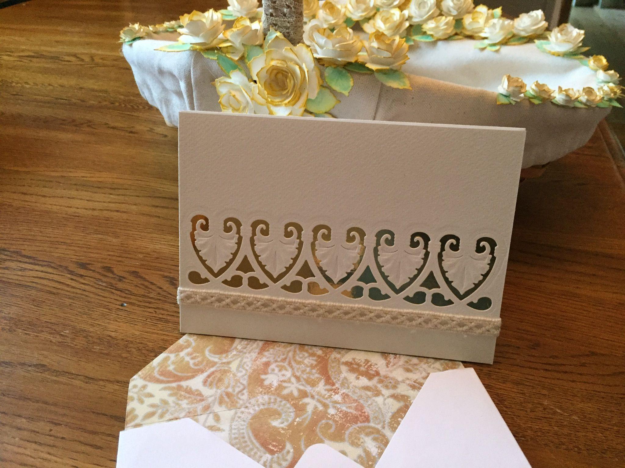 Simple Card Card Made With Spellbinders Art Deco Shells Die This Is A Truly Beautiful Die Basket Was Made With Tim Hol Simple Cards Card Making Original Work