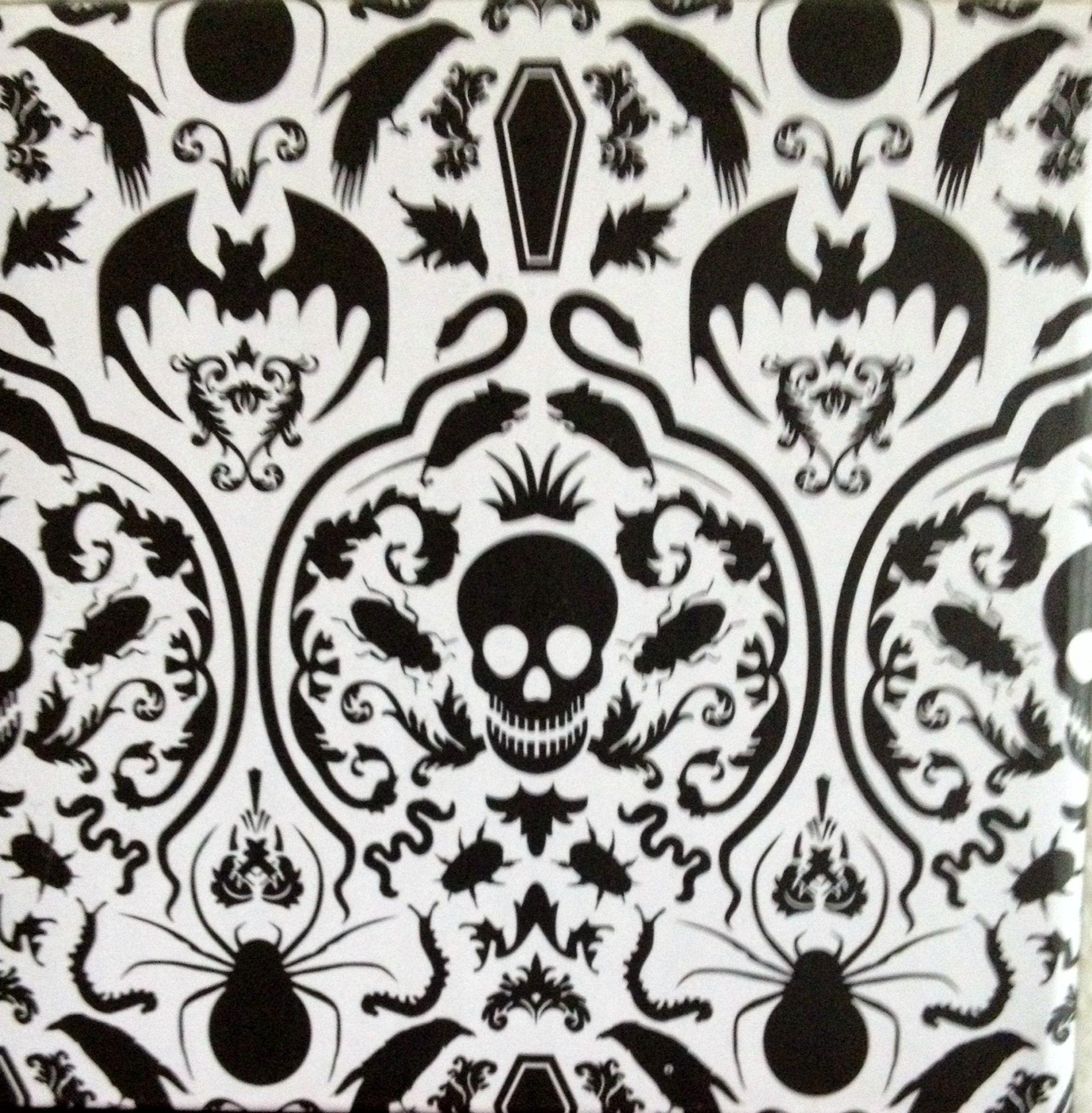Gothic Damask Print, Halloween Damask Print