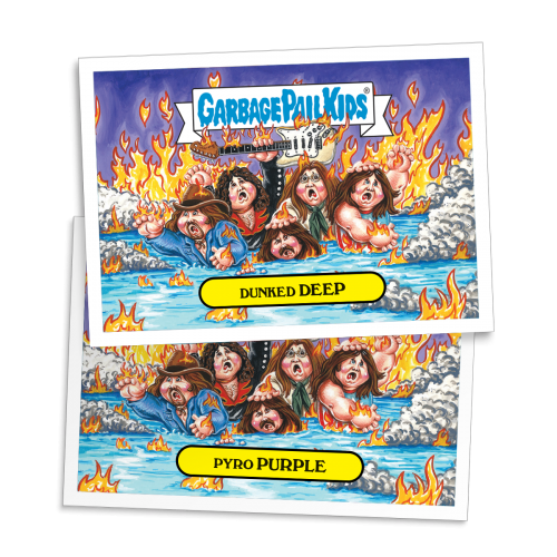 2016 GPK American as Apple Pie in Your Face - Dunked DEEP - Rock & Roll Hall of Lame