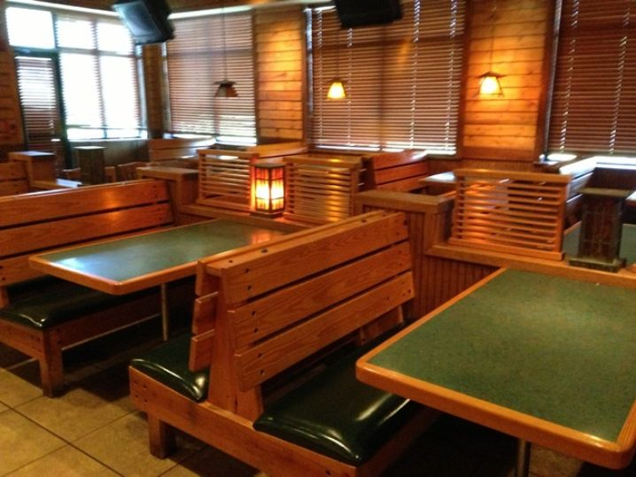 Rustic Wood Restaurant Booths Details About Country