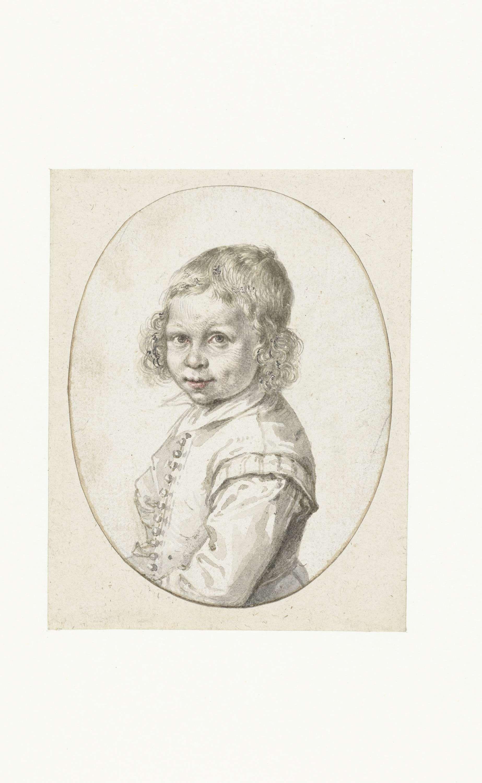 Portret van een kleine jongen, Jacob de Gheyn (II), 1600 - 1605 Rijksmuseum Amsterdam
