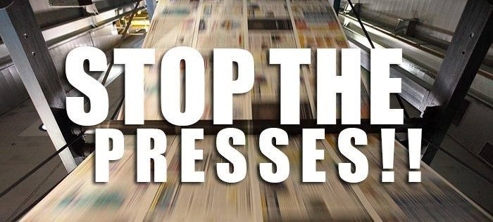 """Stop the presses!"" That's something we don't hear with 24-7 online media. Do you miss the days of a morning paper in your hand?"