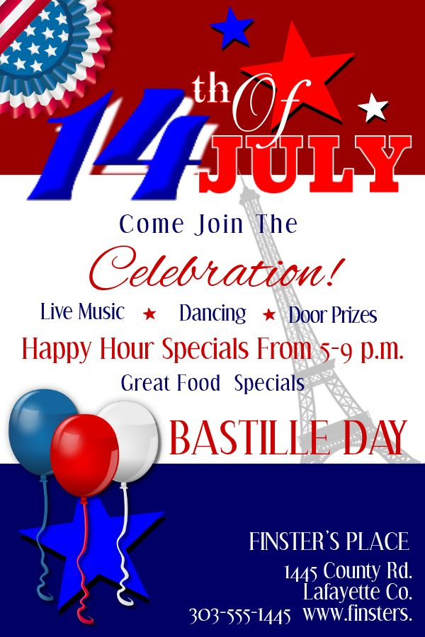 bastille day party poster design template. click to customize, Powerpoint templates