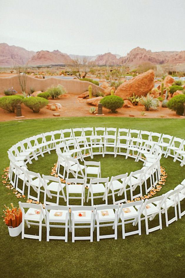 Creative Ways to Set Up Your Wedding Ceremony Chairs Ceremony