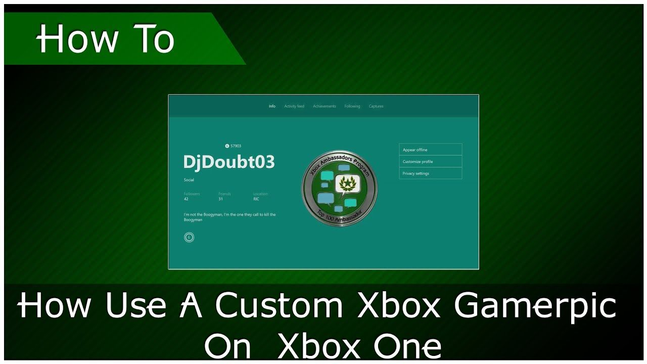How Use A Custom Xbox Gamerpic On Xbox One Custom Xbox Xbox One Xbox