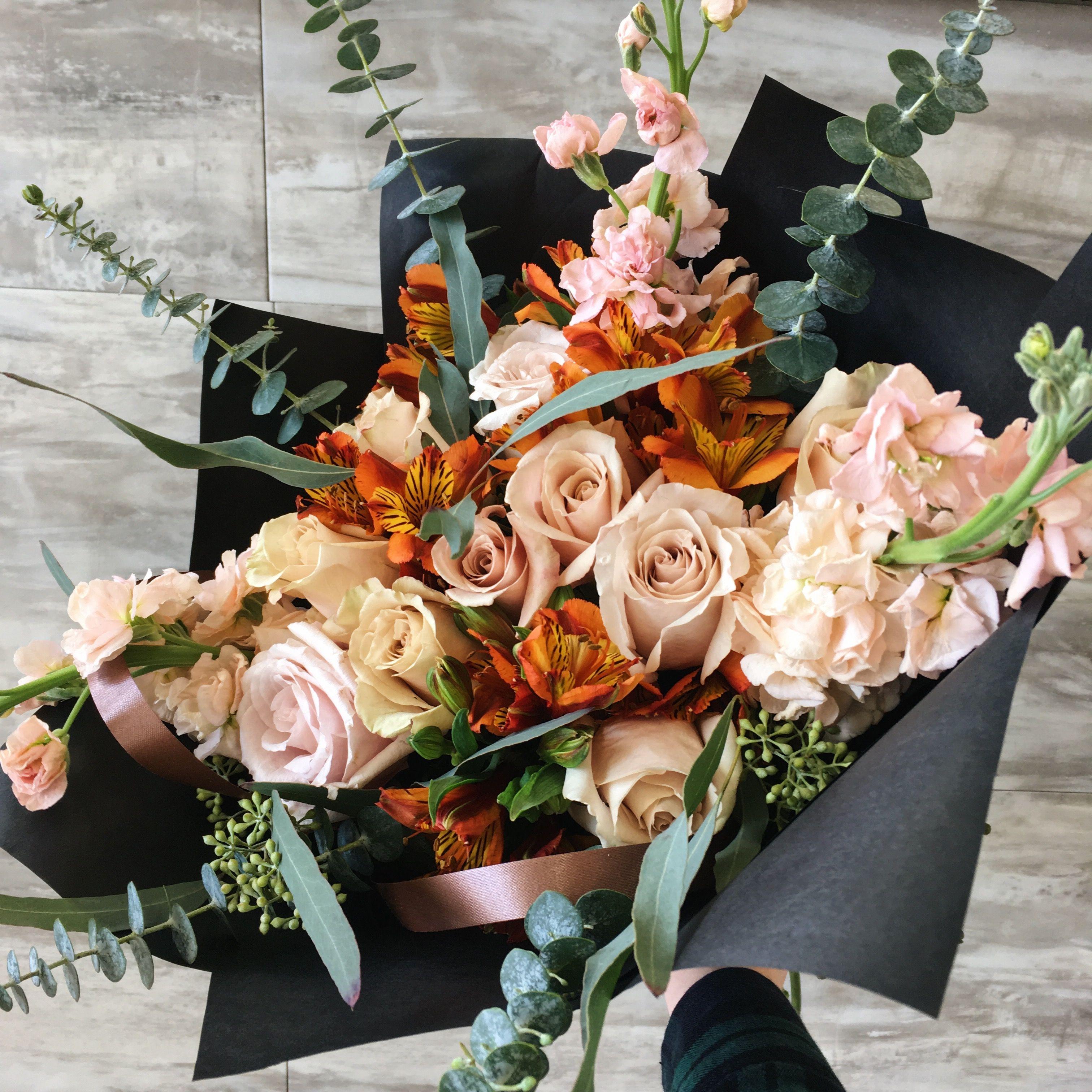 Bouquet black wrapping paper bouquet bouquet for men