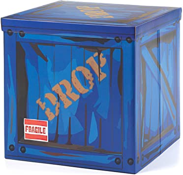 Amazon Com Large Loot Drop Box Accessory 14 X 14 X 14 Goes With Merch Like Pickaxes Guns Costumes Gamer Gifts Diamond Tufted Headboard Gaming Decor