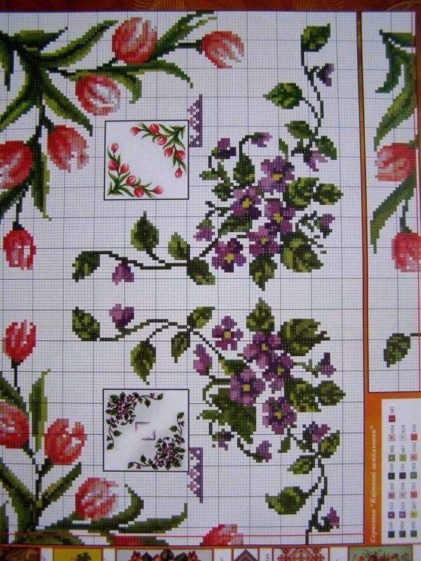 Uz 7 Cross Stitch Ukrainian Embroidery Flower Patterns Tablecloth Pillow Napkin Embroidery Flowers Pattern Cross Stitch Embroidery Flowers