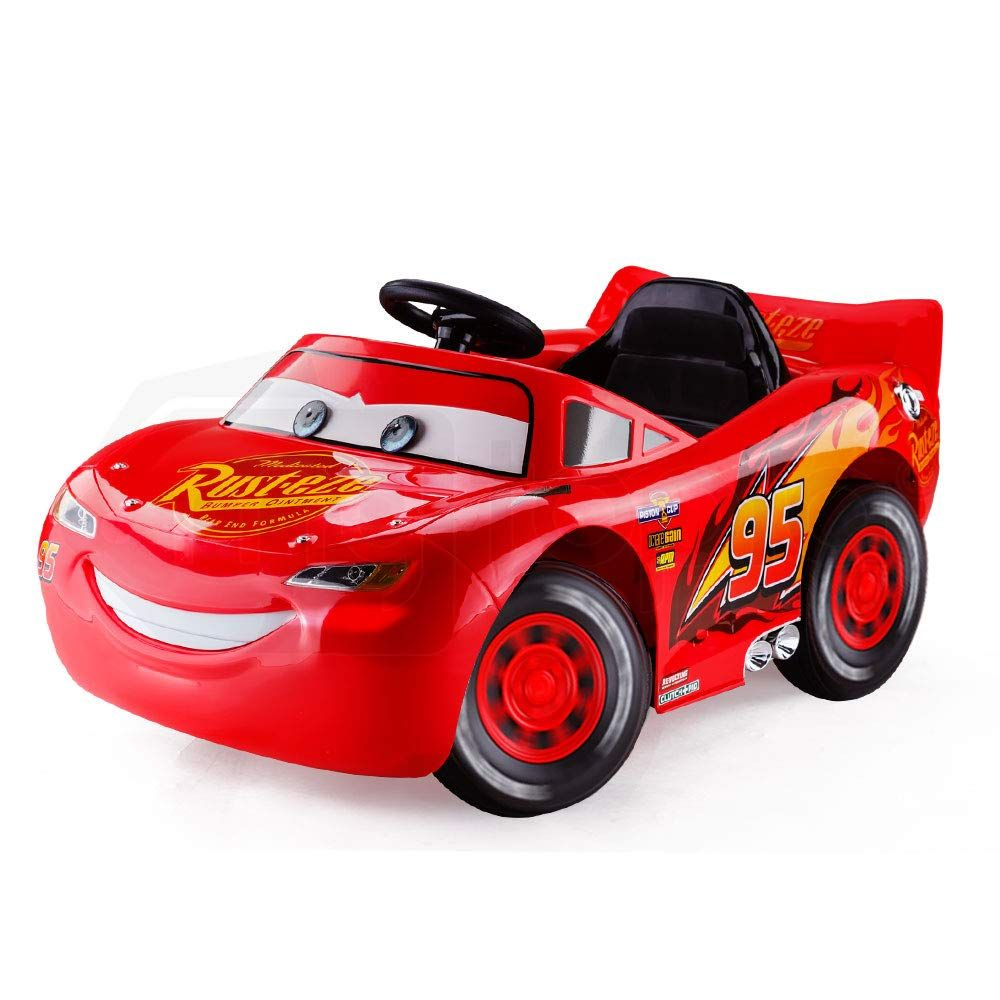 Genuine Disney Lightning Mcqueen Electric Ride On Race Car With Charger Red By Disney Kids Power Wheels Lightning Mcqueen Kids Ride On