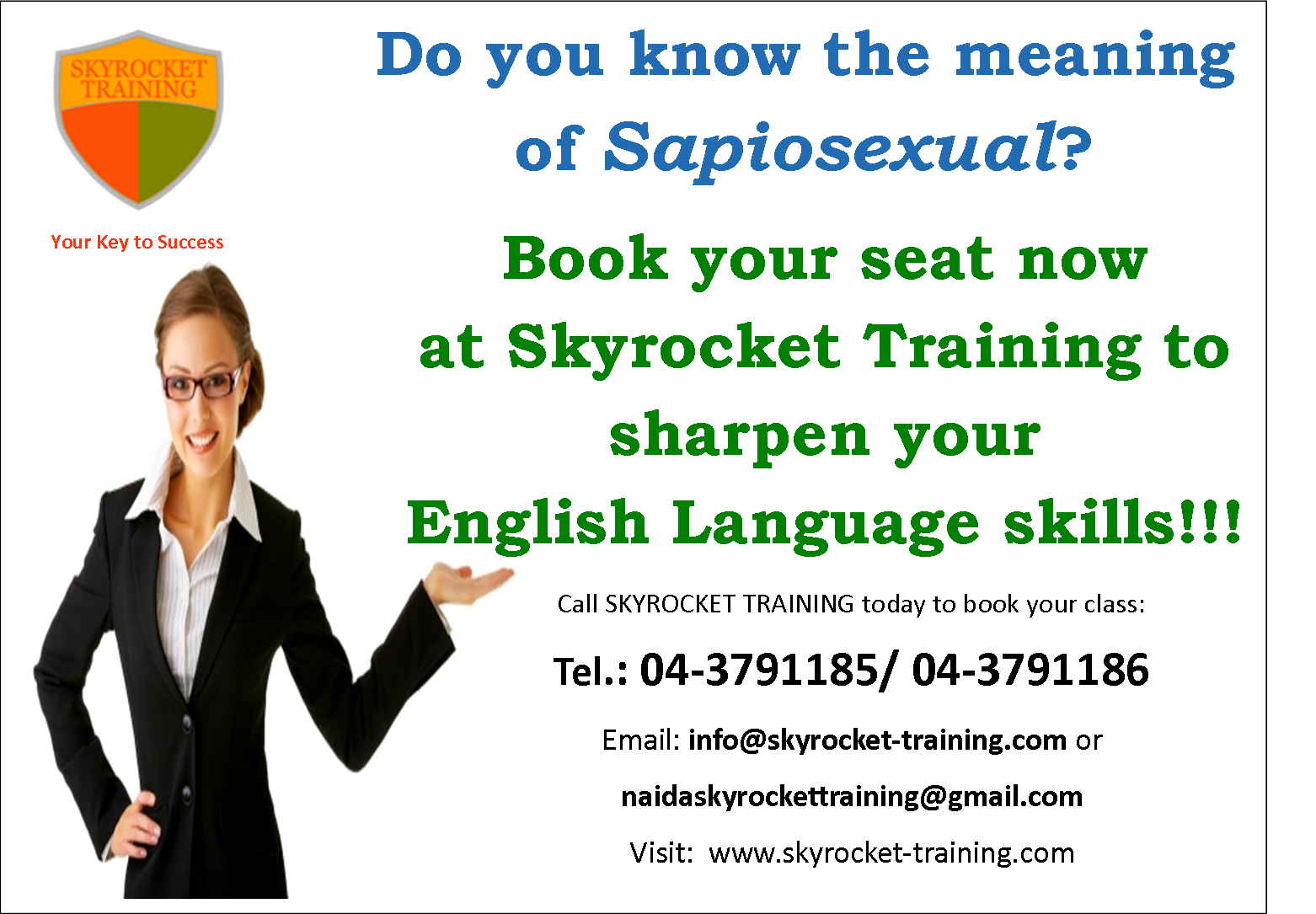 Book Your Seat Now At Skyrocket Training To Sharpen You English Language Skills Language Skills Success Books Improve Your English