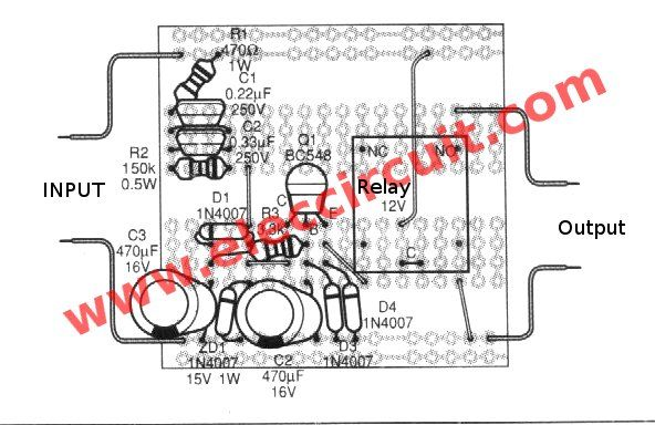 Power On Delay Circuit And Surge Protector Without Transformer Eleccircuit Circuit Delayed Power