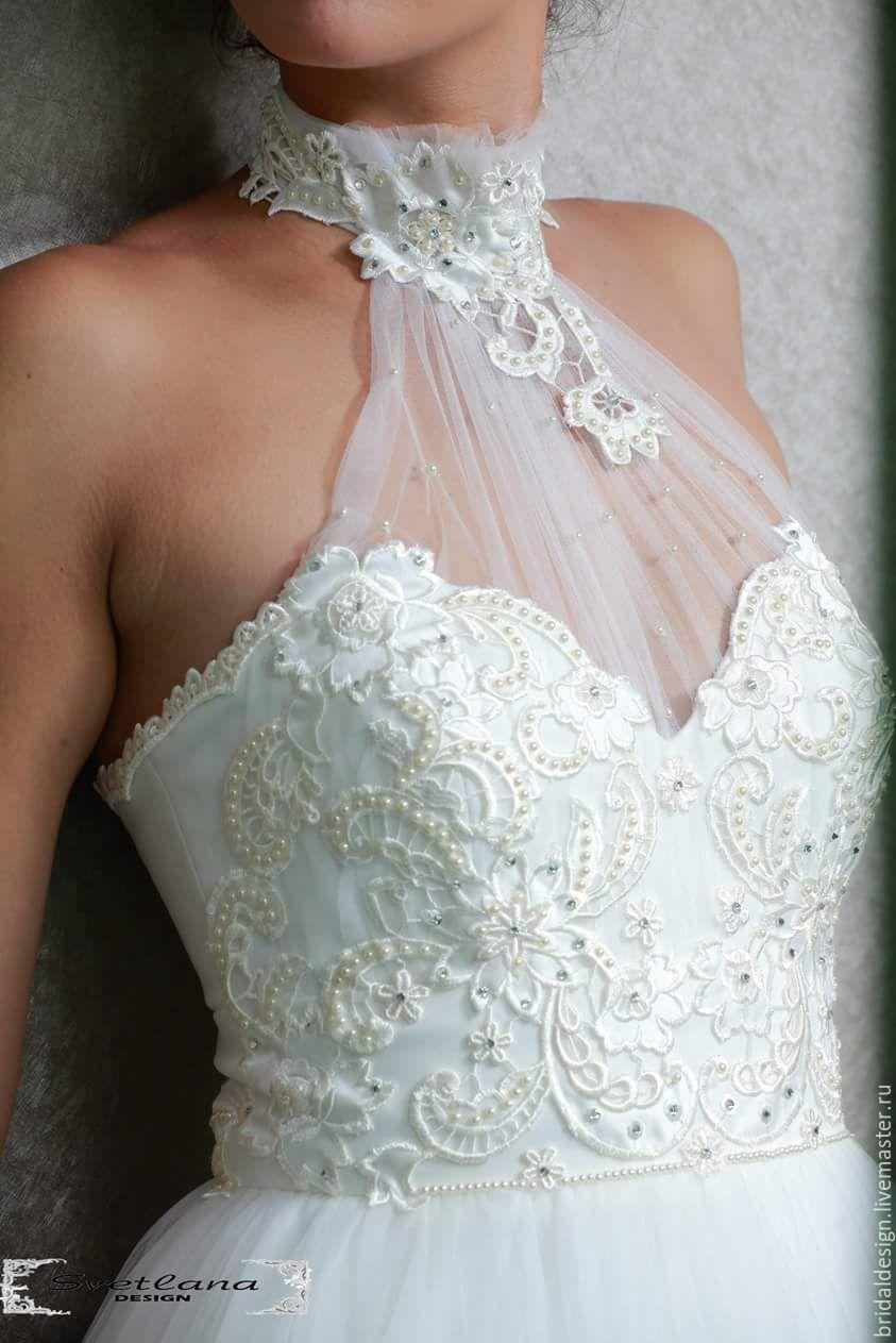 d2a46509f43 Princess. Платье из фатина с кружевной аппликацией круше - белый ...