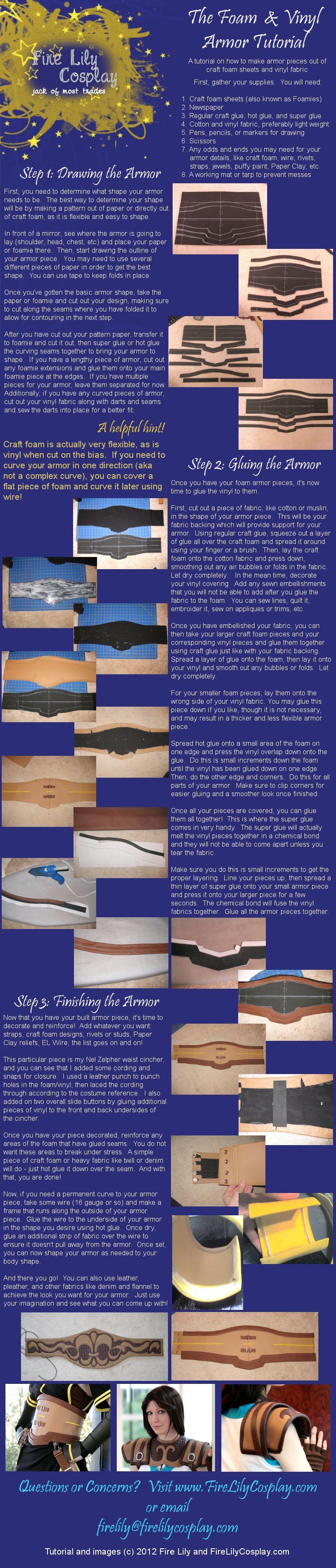 Vinyl and Craft Foam Armor Tutorial by *FireLilyCosplay on deviantART