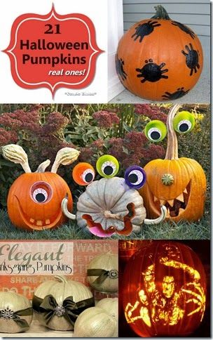 21 Ways to Decorate Real Halloween Pumpkins Porch, Decorating and 21st - ways to decorate for halloween