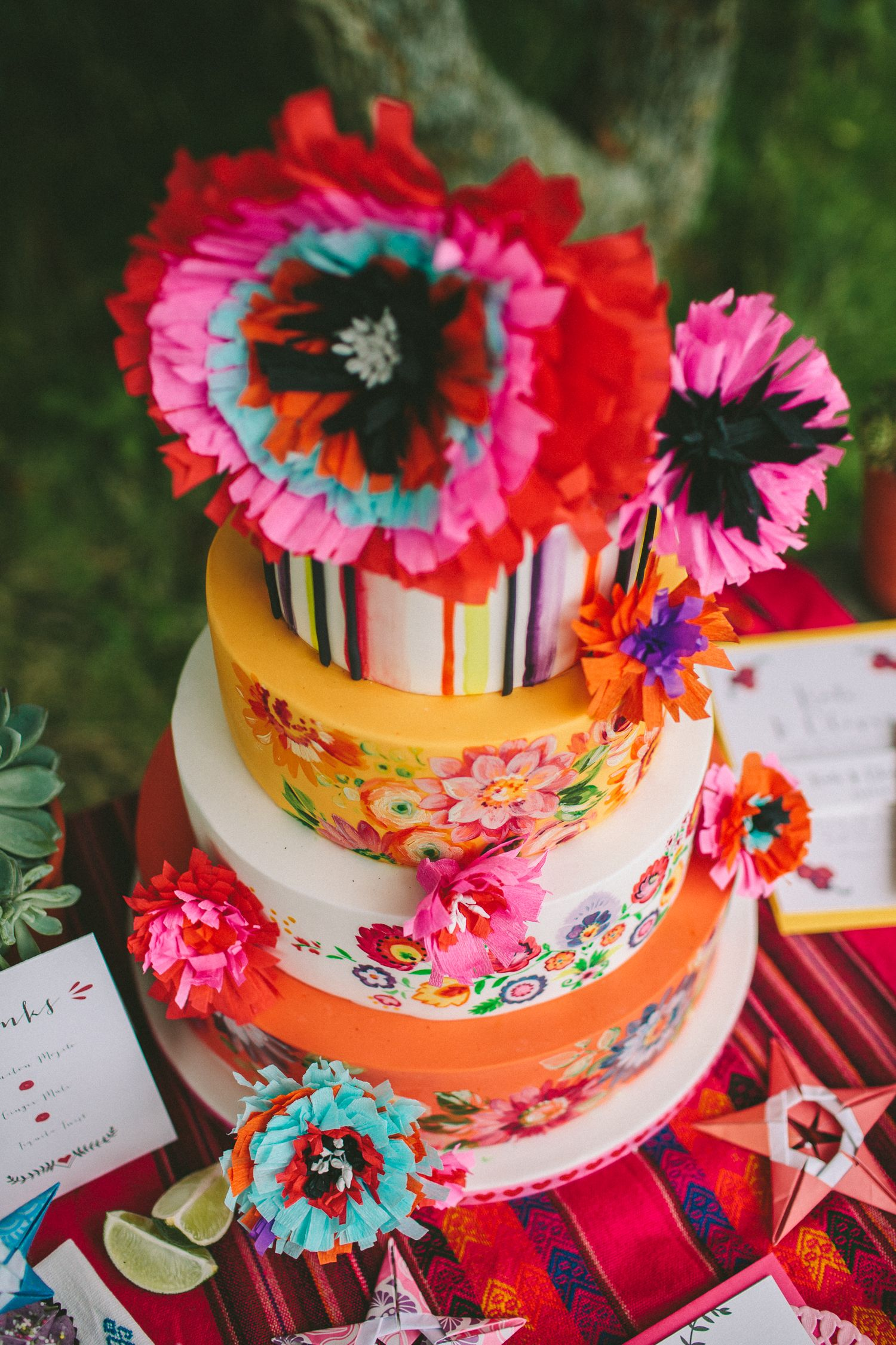 Mexican wedding cake styling from 'Day of the Dead