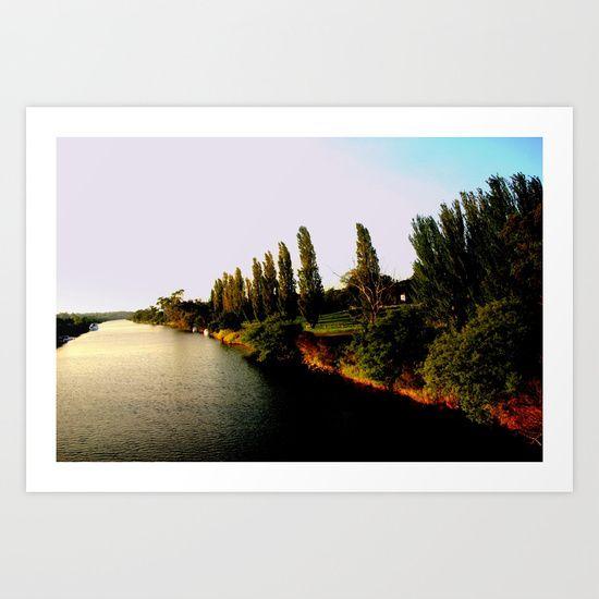 River, Farmlands, River Banks, Sunset...