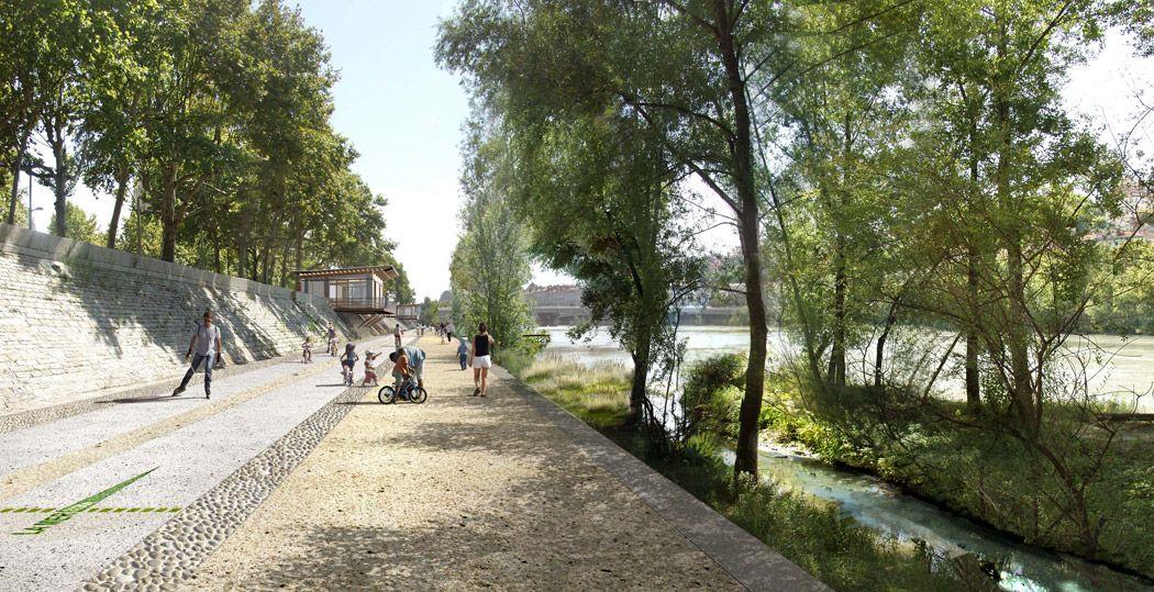 perspective insitu berges du rhone 01 « Landscape Architecture Works | Landezine