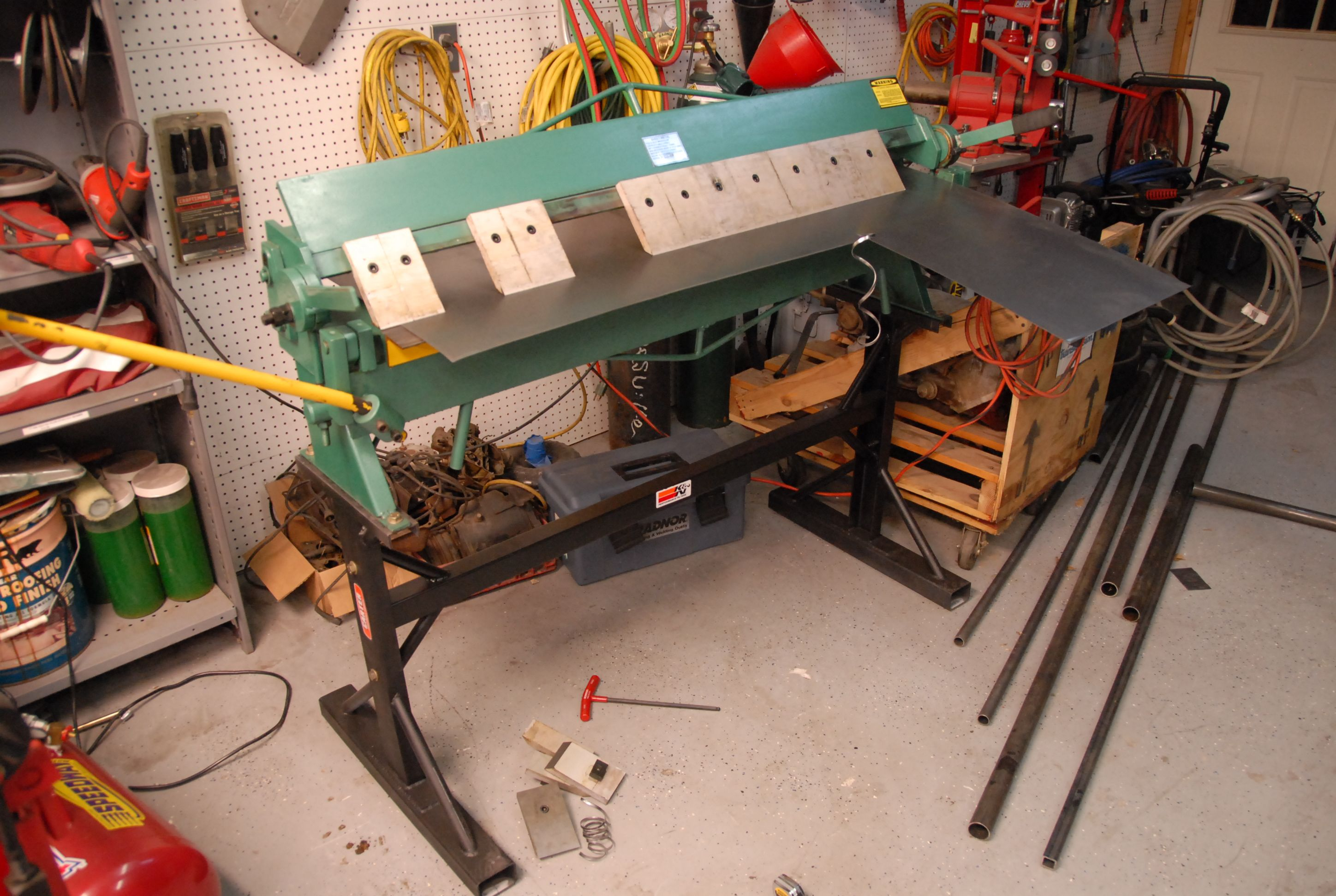 Fun With A 40 Ton Press Ofn Forums Welding Table Welding Metal Fabrication Tools